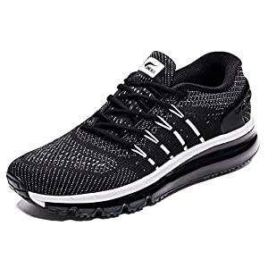 ONEMIX Men's Air Cushion Sport Running Shoes Lightweight Breathable Sneakers with Tilt Tongue Design