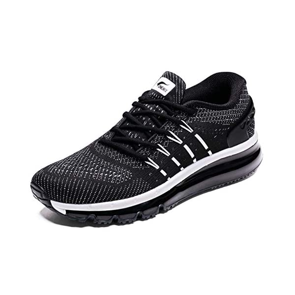 premium selection 3b853 69fda ONEMIX Men s Air Cushion Sport Running Shoes Lightweight Breathable Sneakers  with Tilt Tongue Design
