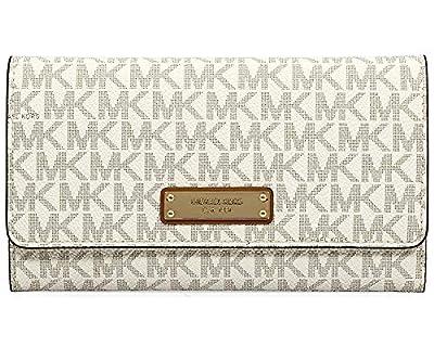 Michael Kors Large Mercer Tri-Fold Wallet- Vanilla