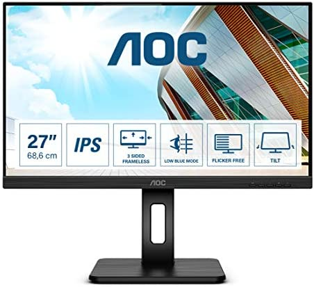 Aoc 27p2q 27 Inch Fhd Monitor Height Adjustable Computers Accessories