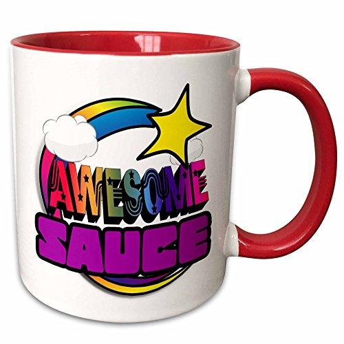 3dRose mug 201396 5 Shooting Rainbow Awesome