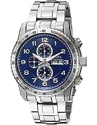 Bulova Mens 96C121 Marine Star Analog Display Quartz Silver Watch