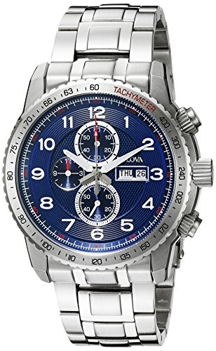 Bulova Men's 96C121 Marine Star Analog Display Quartz Silver (Marine Star Mens Quartz Watch)