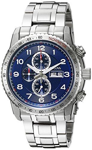 Bulova Men's 96C121 Marine Star Analog Display Quartz Silver Watch ()