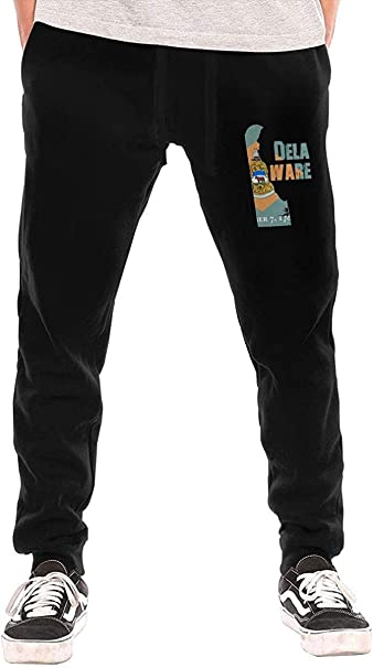 Mapa de la Bandera de Delaware Pantalones de chándal para Hombre ...