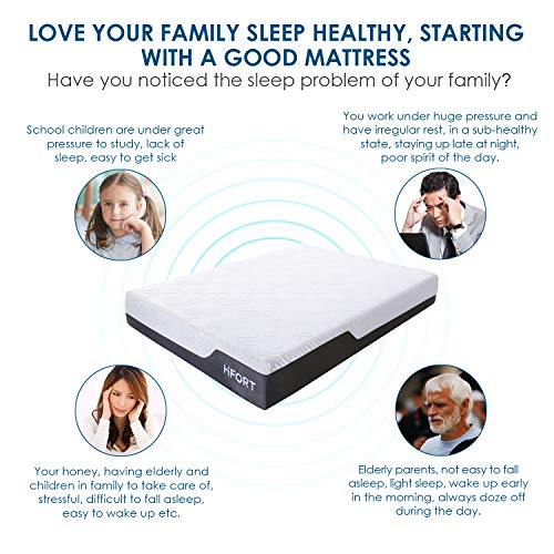 HIFORT 10 Inch King Memory Foam Mattress with Medium Plush Feel - Non Toxic 76x80 Comfy Foam Mattress Colchones King Size - Fit for Bedroom Boxed Bed - Compressed in a Box - CertiPUR-US Certified