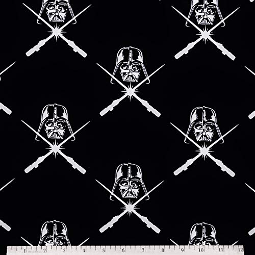 (Star Wars Darth Vader in Black 100% Cotton Fabric by The Yard)