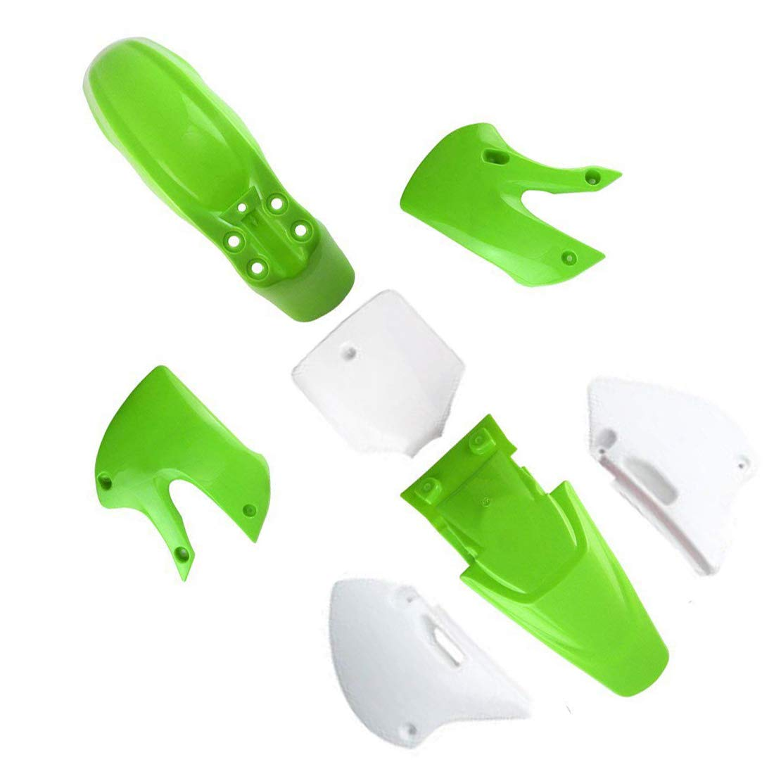 ZXTDR Motorcycle Dirt Bike Body Plastic Fender For SSR Coolster BBR Various Colors (4 green&3 white)