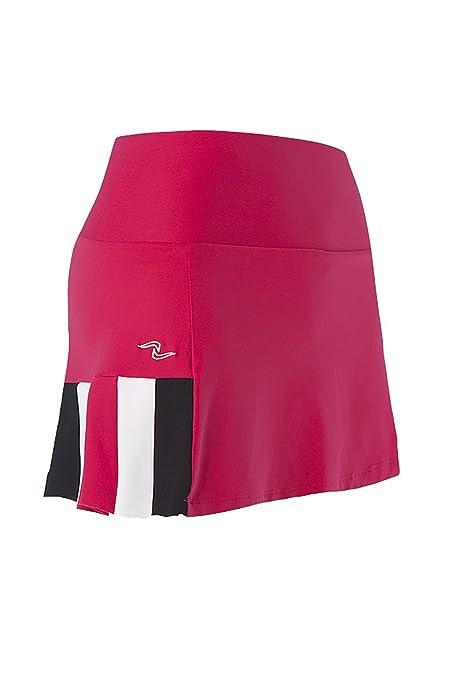 Naffta Tenis Padel - Falda-pantalón para mujer, color borgoña/negro, talla L: Amazon.es: Zapatos y complementos
