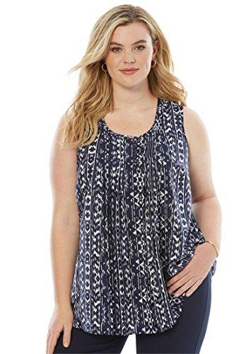 Pleats Camisole - Roamans Women's Plus Size Pleat Camisole