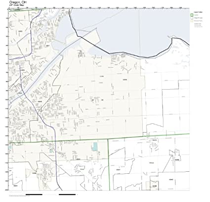 Amazon.com: ZIP Code Wall Map of Oregon, OH ZIP Code Map Not ... on