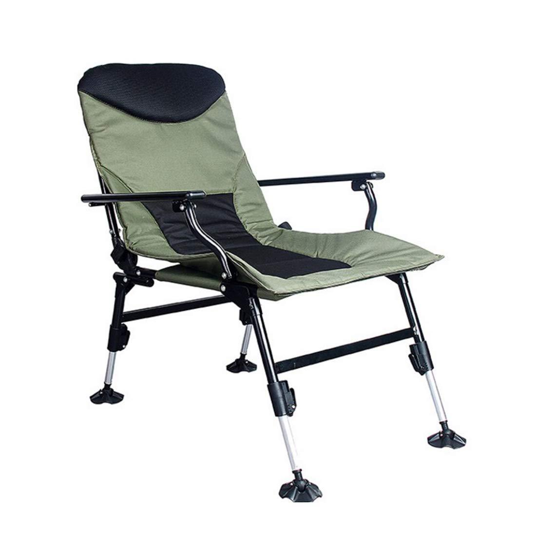 CAFUTY 屋外折りたたみビーチチェアレジャーソファーチェアアームチェア屋外キャンプ午後釣りの椅子 (Color : オレンジ)  オレンジ B07MNNGWLV
