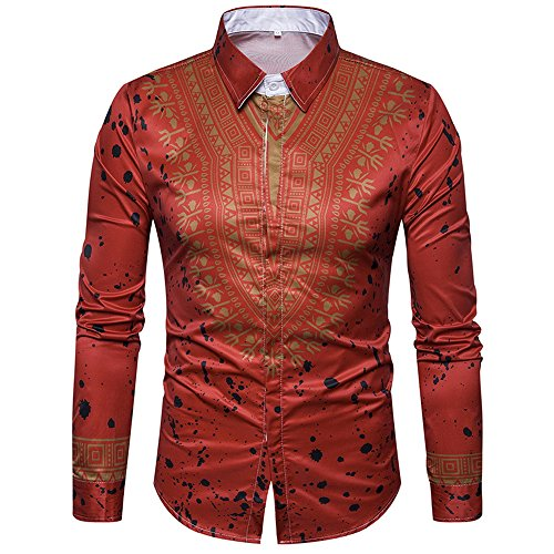 Autumn New Men's Solid Color Long-sleeved Jacket(Red) - 7
