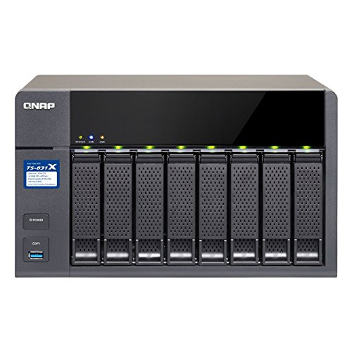 Qnap High-Performance 8-Bay NAS with 2x10GbE (SFP+) Network, Hardware Encryption TS-831X-8G-US by QNAP