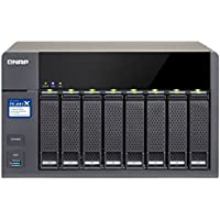 Qnap High-Performance 8-Bay NAS with 2x10GbE (SFP+) Network, Hardware Encryption TS-831X-8G-US