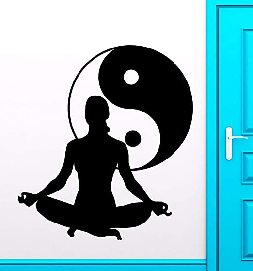 pegatinas decorativas pared Yoga Club Sticker Tai Chi Decal ...