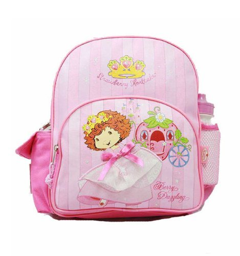 Strawberry Shortcake Pink Toddler Backpack and Matching Shoulder Purse Set, Bags Central