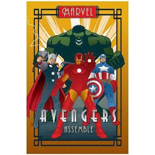 Avengers Poster multicolour Avengers Marvel Deco
