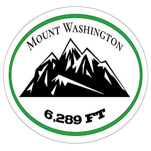 Ross Stores Mount Washington Vinyl - Mountain - New Hampshire - Perfect Mt Washington Gift - Sticker Graphic - Auto, Wall, Laptop, Cell, Truck Sticker for Windows, Cars, Trucks (Stickers Wall New Decorative)
