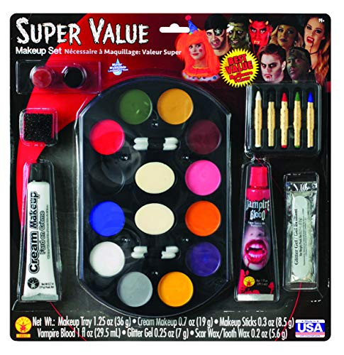 Halloween Face Paint With Beard (Super Value Family Makeup Kit)