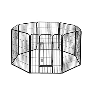 100 x 80CM 8 Panel Pet Playpen Portable Exercise Cage Fence Dog Puppy Rabbit Click on image for further info.