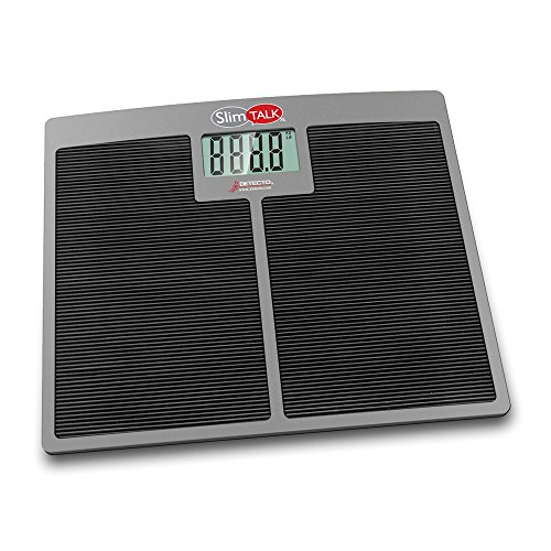 Detecto Stainless Steel Kitchen Scale - Detecto SlimTalkXL Home Health Talking Scale-550 lb Capacity (NEW 2018)