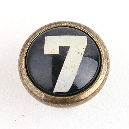 Poign/ée de Porte Bouton Cru Vintage pour Armoire Tiroir Tirette Motif de Num/éro Taille Unique Chiffre 7