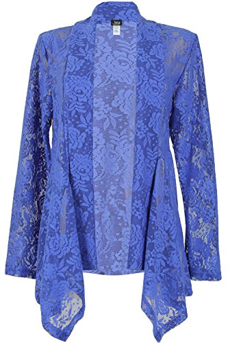 Mid Cut Lace (Jostar Lace Mid-cut Jacket with Long Sleeve, Print in Plants Design Royal Color in Small Size)