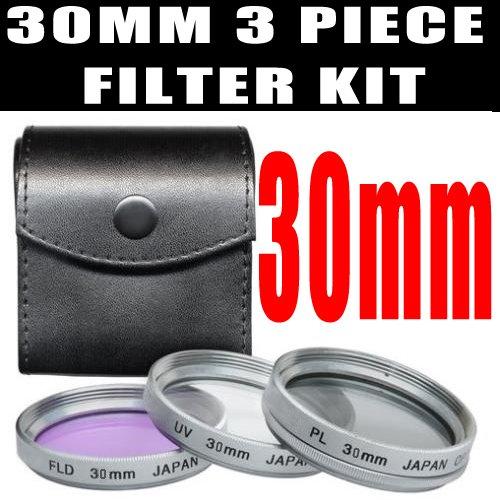[30mm DM Optics High Resolution 3-piece Filter Set (UV, Fluorescent, Polarizer) For The Sony Handycam HDR-CX110 HDR-CX150 HDR-CX350 HDR-CX300 HD Flash Memory Camcorders] (Resolution Multi Coated 30mm Filter)