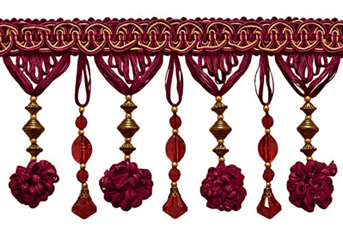 DÉCOPRO 3 Yard Package|Stunning Burgundy Red, Gold 4