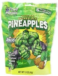 Funky Monkey Snacks, Hulk, Incredible Pineapples, 1.5 Ounce