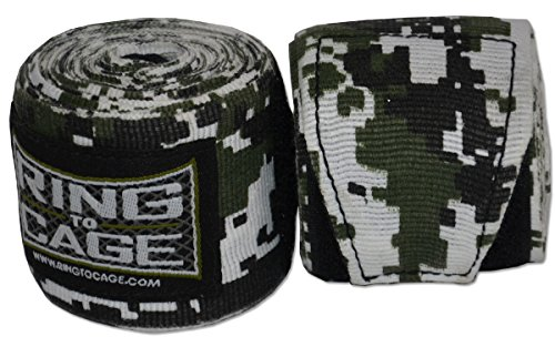 Ring to Cage Military CAMO Printed Handwraps Mexican Style Stretchable 180″