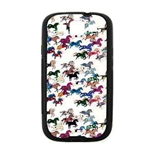 Colorful Artsy Artistic Horse Samsung Galaxy S3 I9300 Case Cover TPU Laser Technology For girls by runtopwell