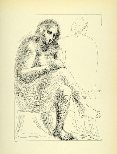 1956 Print Pablo Picasso The Bath Nude Portrait Artwork Suite Vollard Modern Art - Orig. Photolithograph
