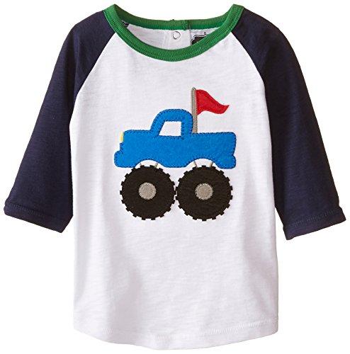 Mud Pie Little Boys' Monster Truck Shirt, Blue, Medium (Mud Pie Little Boy compare prices)