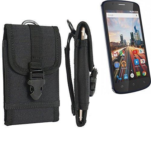 bolsa del cinturón / funda para Archos 50e Helium, negro   caja del teléfono cubierta protectora bolso - K-S-Trade (TM)