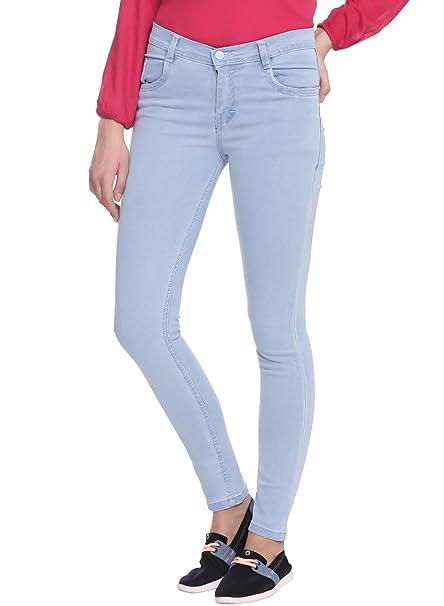 Broadstar Women's Slim Fit Jeans Light Blue