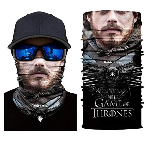 3D Robb Stark Tube Neck Face Scarf Lower Half Face Mask Motorcycle Bicycle Shield Sun Air Soft Outdoor Biker Riding Masks No.96