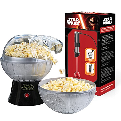 Star Wars Kitchen Set - Death Star Popcorn Maker and Darth Vader Stick Blender by Pangea Brands