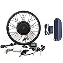 48V1500W Hub Motor 20AH Li-on Battery Powered Electric Bike Conversion Kit + LCD Theebikemotor