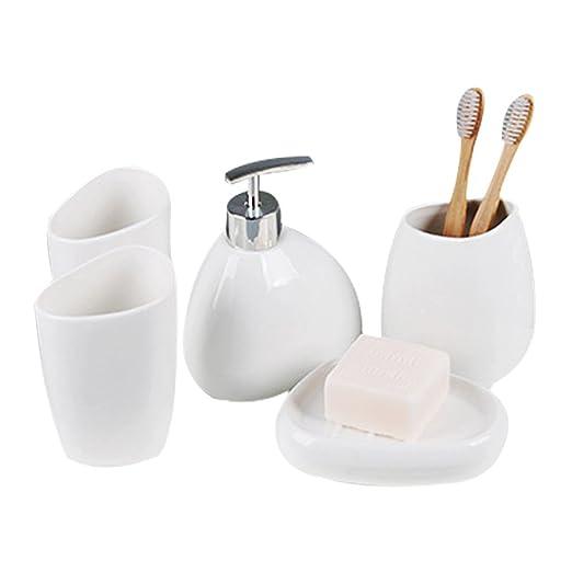 Resina faro baño conjunto suministros de baño botella de loción cepillo de dientes titular dispensador de