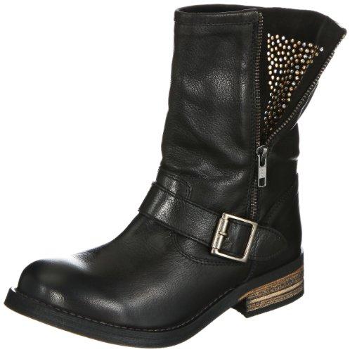 buffalo london 13980 washed leather damen biker boots. Black Bedroom Furniture Sets. Home Design Ideas