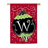 Christmas Bling 2-Sided Garden Flag Size: 43″ H x 29″ W, Letter: W For Sale