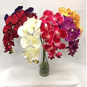 """Silk Flower Garden 2 Pcs Artificial Butterfly Orchid Spray 38"""" 114"""