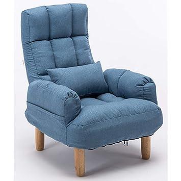 LSQ Chaise De Tissu Reglable Salon Avec Le Repose Pieds Pour