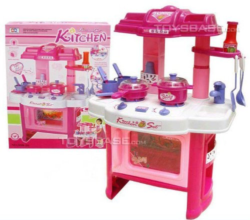 Liberty Imports Deluxe Beauty Kitchen Appliance Cooking Play Set 24