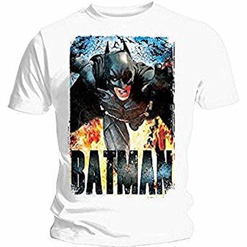 Batman dunkel Ritter Rises - Laufen Flames - Offizielles Herren T-Shirt