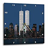 3dRose dpp_154708_3 New York City Evening Skyline Featuring The Twin Towers-Wall Clock, 15 by 15-Inch Review