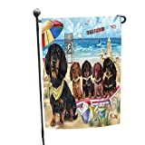 Cheap Doggie of the Day Pet Friendly Beach Dachshunds Dog Garden Flag GFLG48549
