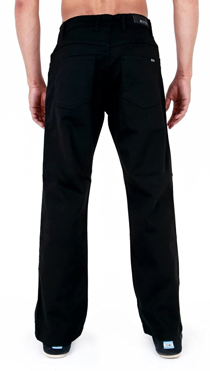 Mens Aztec Chino Stretch Classic Fit jeans Black 34l: Amazon.co.uk: Clothing